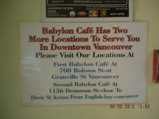 Babylon Cafe